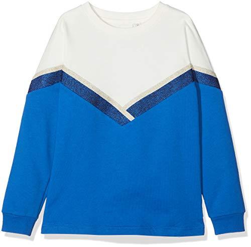 NAME IT NAME IT Mädchen 13159693 Sweatshirt, Mehrfarbig (Nautical Blue), 122 (Herstellergröße: 122-128)