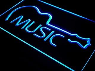 ADVPRO i528-b Music Guitar Display Bar Live Pub New Light Sign