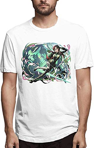Biooarc Men's Anime EVA Evangelion - Ikari Shinji Short Sleeve Top T-Shirt,Makinami Mari Illustrious,Small