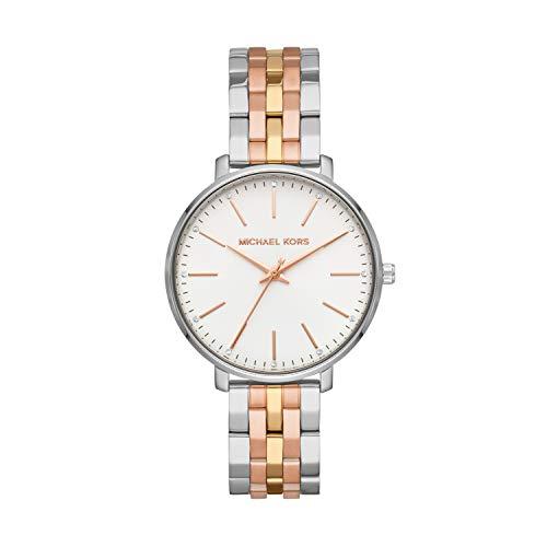 Michael Kors Damen Analog Quarz Uhr mit Edelstahl Armband MK3901