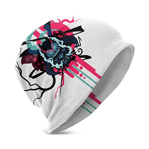 Unisex Beanie Hat Emblema de Samurai cálido y Acogedor Estilo de símbolo japonés Samurai Abstract 3D Kids Fashion Beanie Caps Apto para niños