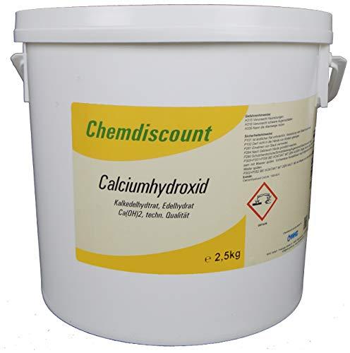 WHC WasserHygieneChemie GmbH 2,5kg Calciumhydroxid Ca(OH) 2, techn, Edelkalkhydrat, gelöschter Kalk