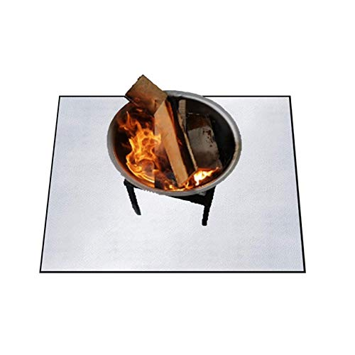 Barbecue Fireproof Mat|Square Type, Fireplace Carpet Fireproof Mat, Protect Courtyard Lawn, Terrace Deck From Damage, 39.37x39.37in
