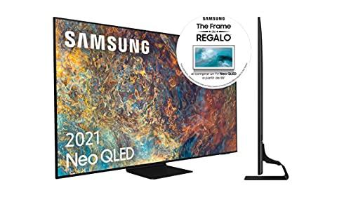 "Samsung Neo QLED 4K 2021 65QN90A - Smart TV de 65"" con Resolución 4K UHD, Quantum Matrix Technology, Procesador Neo QLED 4K con Inteligencia Artificial, Quantum HDR 2000, OTS+"