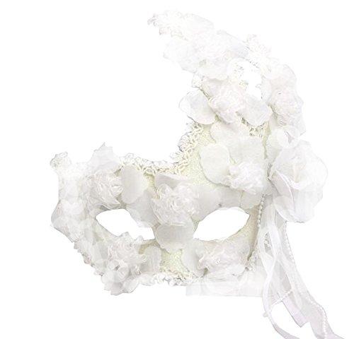 Blancho Noble Dentelle Fleur Masque fête d'halloween Masque Mascarade Masque Masque de Cosplay