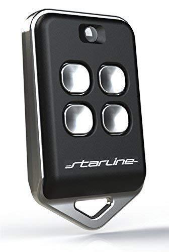 STARLINE RADIOCOMANDO UNIVERSALE STARLINE TWIN AU4T 433 MHz (433.92) codice fisso 4 Tasti, MADE IN ITALY, (NO rolling-code) riprogrammabile funziona 200 metri. NERO