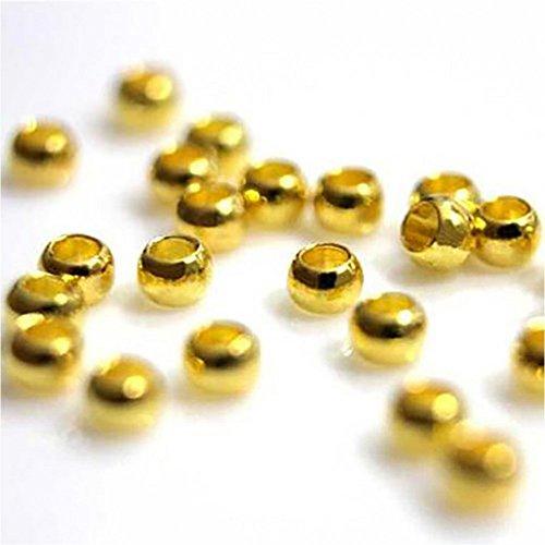 Présentoirs pour Bijoux Accessoires création Perles à écraser 1,5mm 200 pièces Doré