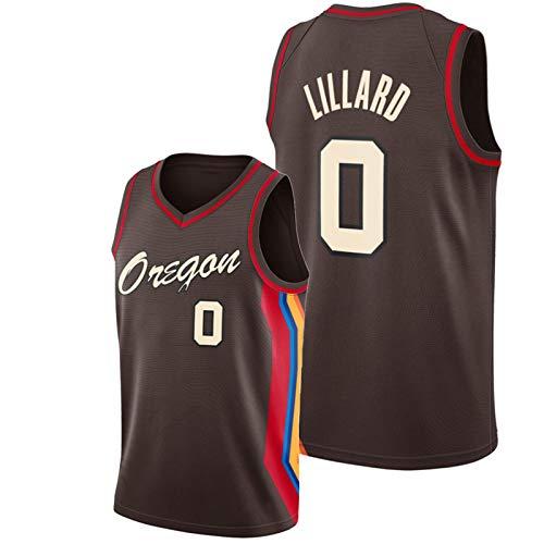 Camiseta De Baloncesto para Hombre Dǎmian Lillǎrd # 0, Camiseta Sin Mangas De Color Chocolate Blzers City Edition De 2021, Camiseta Bordada Swingman De Oregon S