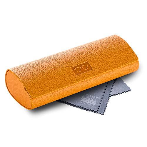 FEFI - Stabiles Hardcase Brillenetui in modischen Farben (Gelb)