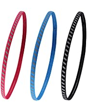 Tagvo Sport-hoofdband, 3 stuks, antislip, elastische atletische atletische haarband, vochttransport, lichtgewicht, fitness, voor dames en heren