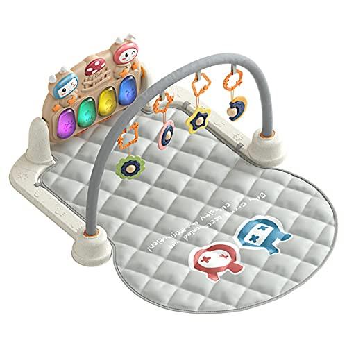 ZXJ Bebé Gimnasio 3-en-1 Actividad De Juego De La Lona De Idoneidad Playmat con Música Luces Y Sonidos - 5 Infantil Aprendizaje Sensoriales Juguetes para Recién Nacido