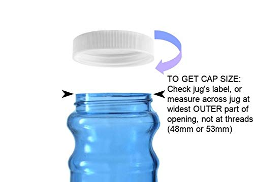 Water Bottle Replacement Caps 53mm - (2pk)