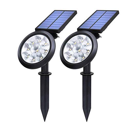 X&LFC 2 Pack Upgraded Version of Solar Garden Light, Outdoor Waterproof 9 LED Landscape Lighting, 180° Adjustable, for Landscape Lighting Patio Aisle