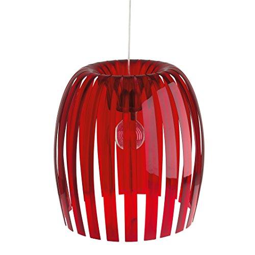 Koziol Josephine XL - Lámpara colgante (44 x 44 x 48 cm), color rojo y transparente