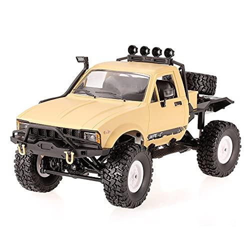 1:16 Camioneta RC De Simulación A Gran Escala, Vehículo Todo Terreno De Escalada Todoterreno De 2.4G, Camión RC De Carga 4WD con Luces LED De Alto Brillo, Coche Eléctrico De Control Remoto