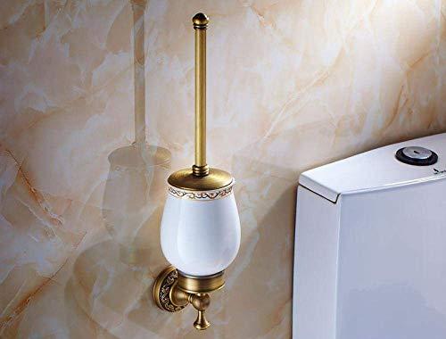 Alle Kupfer europäischer Stil Klobürste antike Toilettenbürstengarnitur Reinigungsbürstenhalter WC Tasse Wand-Bad echter Wasser-Tröpfchen WC-Sitz Huangwei7210