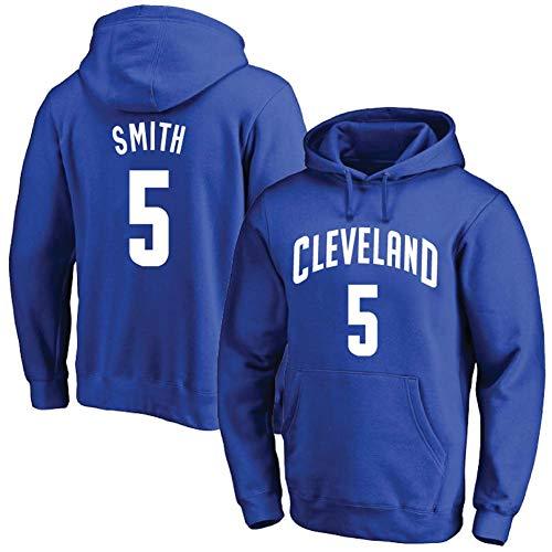 JMING Sudadera con capucha de baloncesto, con capucha de caballeros, Nº 5 JR Smith Jersey traje de entrenamiento para hombres y mujeres, suelto, talla grande, suéter deportivo (W4, L)