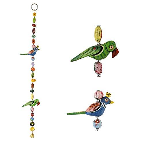Lify Handicraft Rajasthani Bird/god and Animal Wall/Door Hanging Screen Toran Set of 1 Pcs (Parrot & Peacock)