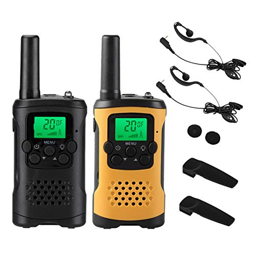 Walkie Talkie Set of 2 wesTayin-T48 Specific Small Power Transceivers with Earbud Mic 10mW Low Radiation No Licence or Eligibility Needed for Outdoor Climbing and Holiday Gift