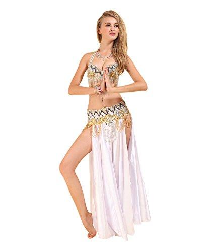 SunWanyi Damen Bauchtanz Rock Anzug Performance Tribal Oriental Arabian Belly Dance(Referenz Beschreibung)