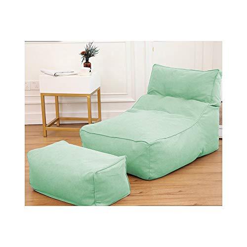 ZYLE Lazy Couch Bean Bag Tatami Sencillo Creativo Sencillo de Siesta Sofá Sofá Cama en el Respaldo del hogar con reposapiés 75 × 75 × 100 cm (Color : Lake Green)