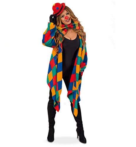KarnevalsTeufel Kostüm-Set Clown 5-teilig Weste mit passender Schleife und Mini-Melone, Handschuhe und Clownsnase Spaßvogel Kasper