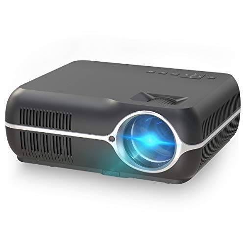 ILIMPID Home Video LCD Projector, Multimedia Home Cinema Theater Projector 4200 Lumens WXGA 1280x800 Resolution Support Full HD 1080P Home Theater Movie Video Games (Basic Version, Black)