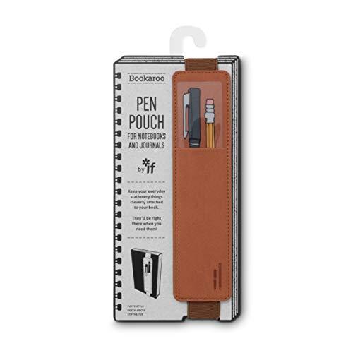 IF Bookaroo Pen Pouch Notebook/Pen Organiser Elasticated A5 Notebook -Brown