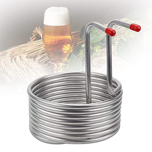 Beer Cooling Coil,Stainless Steel Wort Chiller,Brewing Machinery Accessory Easy Clean for Wine Making Machine Hotel Restaurant Home Brewing