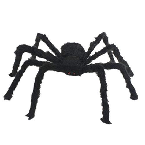 CGDX 1Pc 30/50/75 cm Negro Big Halloween Plush Spiders Niños Niños Juguete Peluche Negro Estilo para Fiesta Decoración de Halloween 75cm