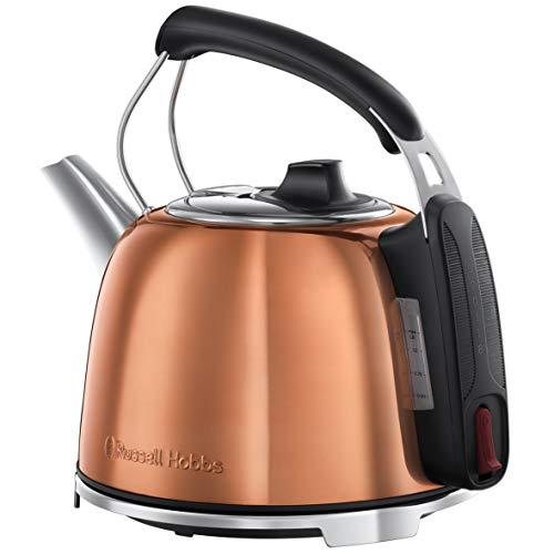 Russell Hobbs K65 - Hervidor de agua (eléctrico, 1.2 litros, acero inox, 2400 W) color cobre