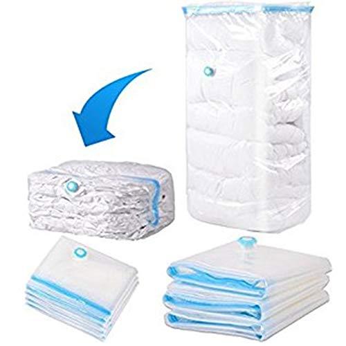 PPuujia Paquete de bolsa de vacío de alta capacidad, organizador comprimido para colchas, ropa transparente, ahorro de espacio, bolsa de almacenamiento plegable (tamaño: 100 x 110 x 44 cm)