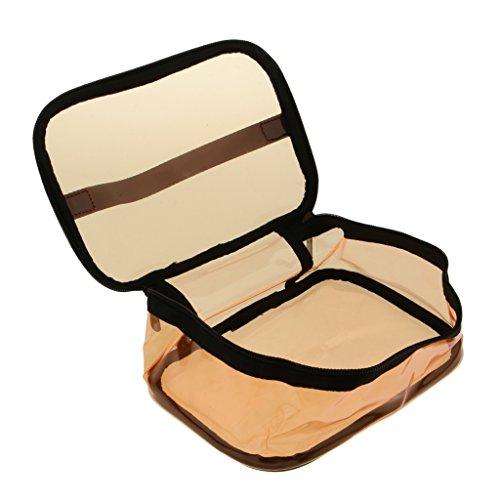 Baoblaze Sac de toilette transparent PVC pour cosmétiques Trousse aéroport - Orange, 1#