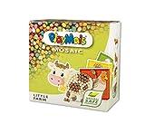 PlayMais Mosaic Little Farm Kit de Manualidades para niños y niñas a Partir de 3 años | 2300 6 Plantillas de mosaicos con Animales de Granja | estimula la Creatividad y Habilidades motoras