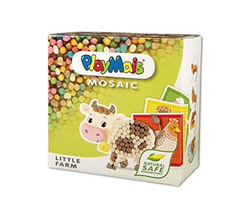 PlayMais Mosaic Little Farm kit de Loisirs créatifs pour Filles et garçons de 3 Ans + | Plus de 2300 6 modèles de mosaïques avec des Animaux de Ferme | stimule la créativité et la motricité