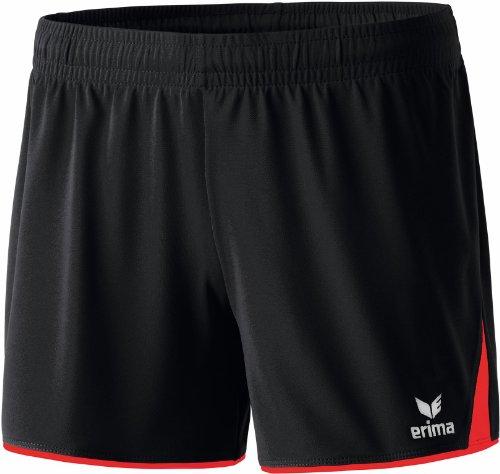 Erima Damen Classic 5-C Shorts, schwarz/rot, 40