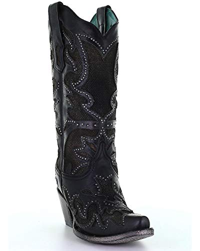 Corral+Ld+Black+Inlay+%26+Embroidery+%26+Studs+%2cSize+8.5