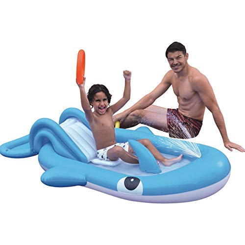 Whale Inflatable Swimming Pool Infantil Hinchable Wasserrutschspielzeug Kids Outdoor Sprinkler Toy para Outdoor Garden Backyard Ground Party 27 x 10 x 37 cm