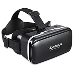 HAMSWAN 3D Virtual Reality Headset features its innovative fabric design, light weight and comfortable wearing, which contribute to immersive visual experience with high definition photos Innovative Design: To have light weight and comfortable wearin...