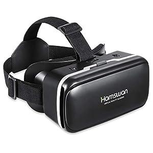 HAMSWAN 3D VR Brillen, HD Virtual Reality für Smartphone iPhone, Samsung Sony, Android und Handys mit 4,5 - 6,0 Zoll