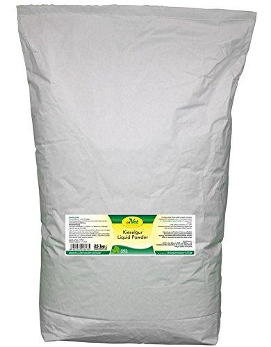 cdVet Naturprodukte Kieselgur Liquid Powder 25 kg - Hund, Katze, Vogel, Kleintiere - Trockenhilfsstoff - Feuchtigkeitsbindend - bindet Floh + Milbenkot - Stallhygiene - Stallklima - Kieselalgen -
