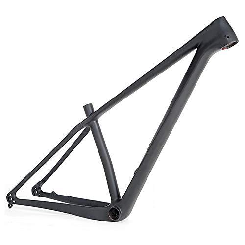 MTB marco Cuadro de fibra de carbono Todo el eje de barril de fibra de carbono negro Cuadro de montaña Cuadro de bicicleta de campo a través Luz mate Frenos de disco ocultos marco de fibra de carbono
