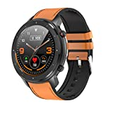 Smart Watch, Fitness Tracker, Bluetooth 5.0 Activity Tracker 1.3inch Full-Touch Screen with Sleep Tracker Calorie Record Pedometer IP68 Waterproof for Android and iOS Phones Men Women Watch(Brown)