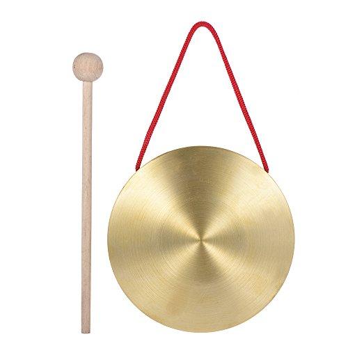 Ammoon Hand-Gong Becken aus Messing und Kupfer, Percussion, mit Hammer, 15cm 15cm