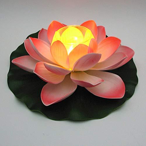 OSALADI Schwimmende Lichter lotus Blume Segen Licht Pool lotus lichter wunschkerzen Lampe Blumenlaternen Künstliche Seerosen LED für Pool Garten Aquarium Hochzeitsfeier Deko