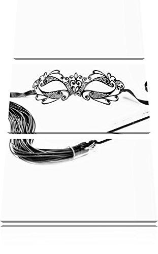 Pixxprint Sexy Frauenoberkörper mit Seilen / 3-Teilig/Gesamtmaß 120cm Leinwandbild bespannt auf Holzrahmen/Wandbild Kunstdruck Dekoration