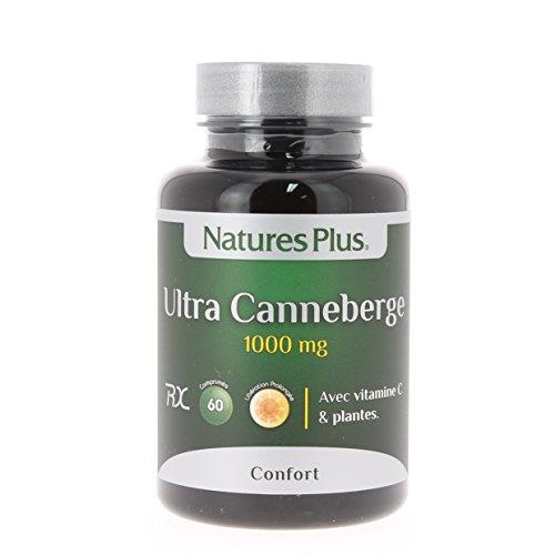Nature s plus - Ultra canneberge 1000 action prolongée - 60 comprimés - Confort urinaire