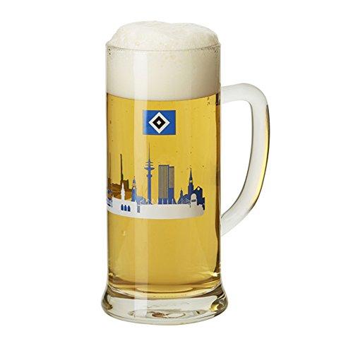 HSV Bierkrug 0,5 Liter Bierglas mit HSV-Motiv