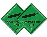 2 Stück Compressed Gas Auto Aufkleber für Sanitaeter, Krankenwagen Dekofigur, Ärzte, Medic, FIRST...