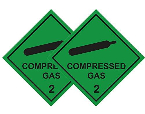 2 Stück Compressed Gas Auto Aufkleber für Sanitaeter, Krankenwagen Dekofigur, Ärzte, Medic, FIRST RESPONDER & Diver